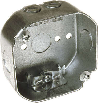 Raco  4 in. Octagon  Steel  1 gang Junction Box  Gray