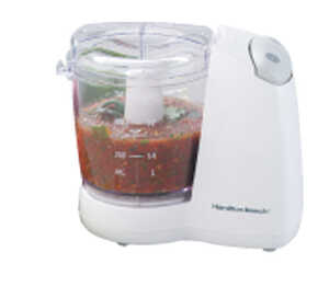 Hamilton Beach  White  24 oz. 80 watts Food Processor
