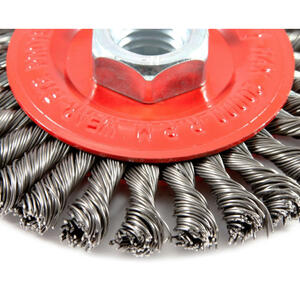 Forney  4 in. Stringer  Wire Wheel Brush  Metal  20000 rpm 1 pc.