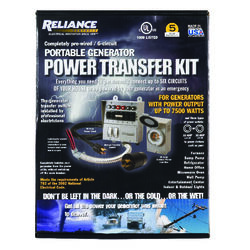 Reliance Controls  30 amps 240 volt 2 space 6 circuits Surface Mount  Generator Power Transfer Kit