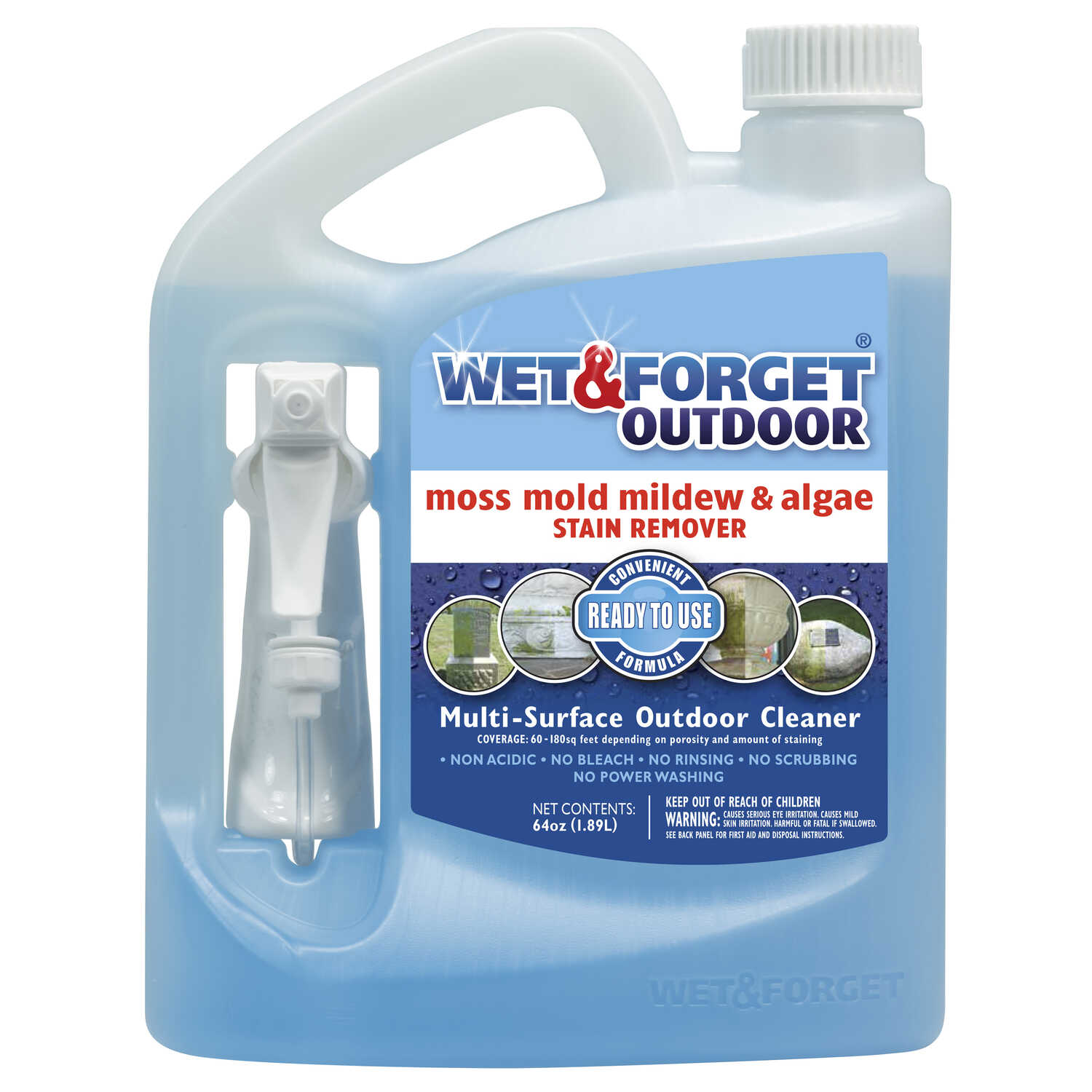 Wet And Forget Outdoor Mold And Mildew Stain Remover 64 Oz