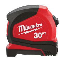 Milwaukee 30 ft. L x 1.65 in. W Compact Tape Measure 1 pk