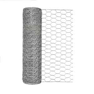 Garden Zone  18 in. H x 50 ft. L 20 Ga. Silver  Poultry Netting