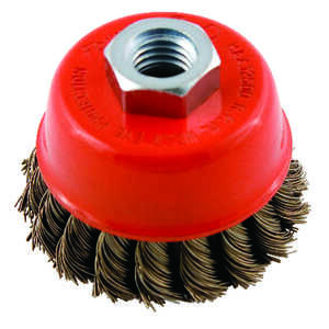 Forney  2.75 in. Dia. x 5/8 in.  Knotted  Steel  Cup Brush  1 pc.