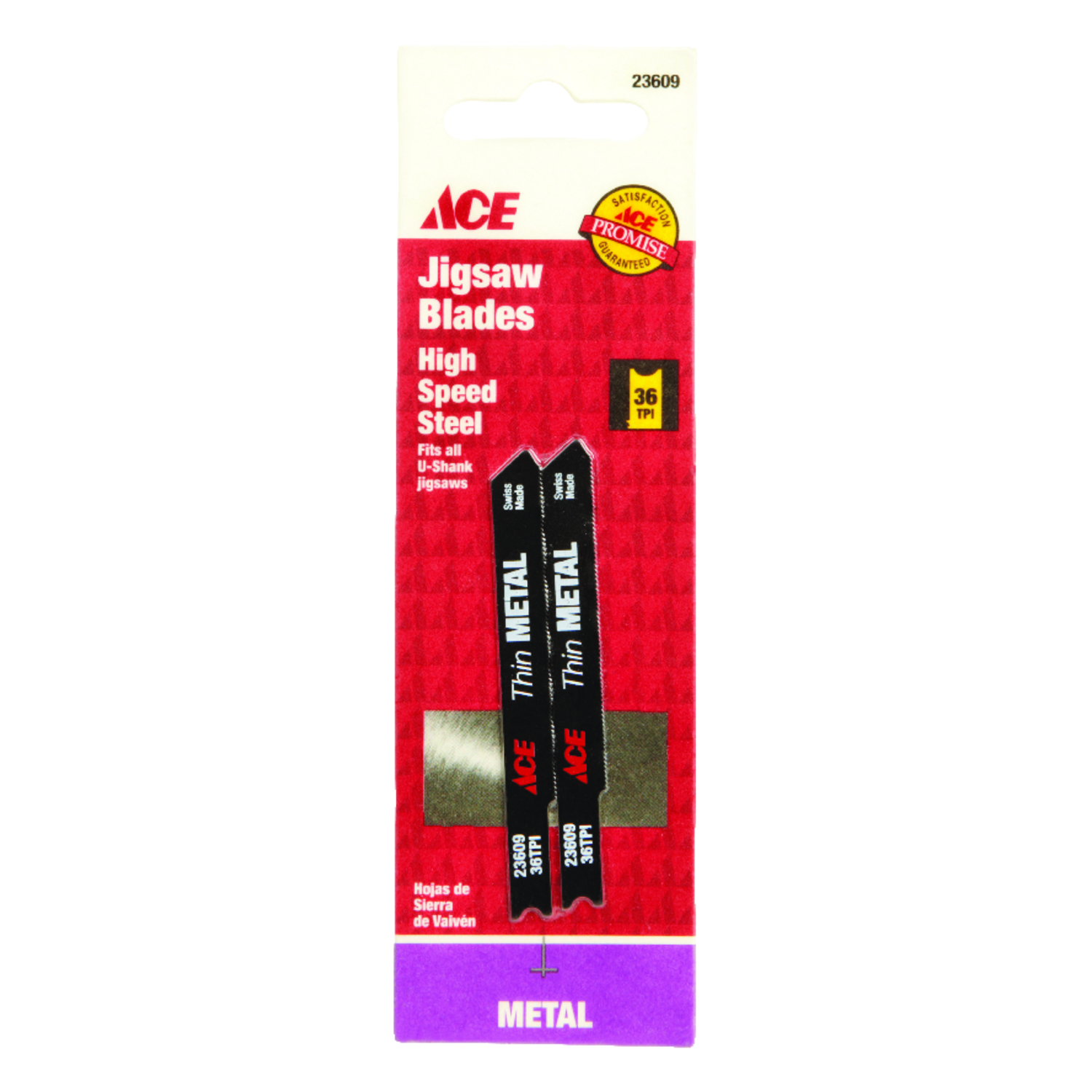 Ace  Carbon Steel  Jig Saw Blade  36 TPI 2 pk Universal  2-3/4 in.