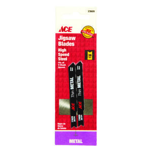 Ace  2-3/4 in. Carbon Steel  Universal  Jig Saw Blade  36 TPI 2 pk
