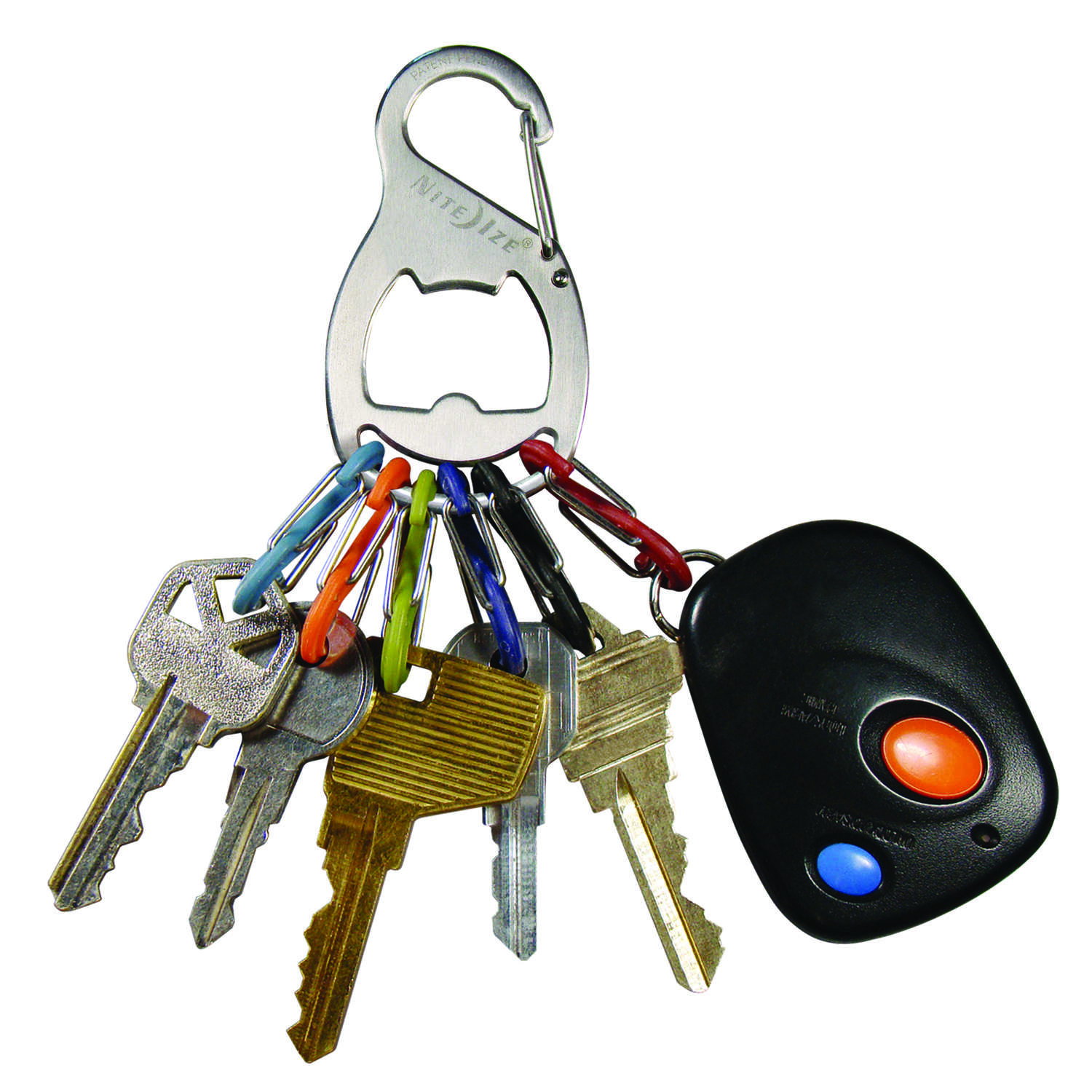 Nite Ize  Key Rack  2.1 in. Dia. Stainless Steel  Silver  KeyRack  Key Chain