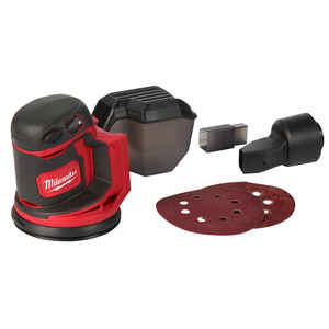 Milwaukee  M18  5 in. Cordless  Random Orbit Sander  Kit 18 volt 12000 opm Red