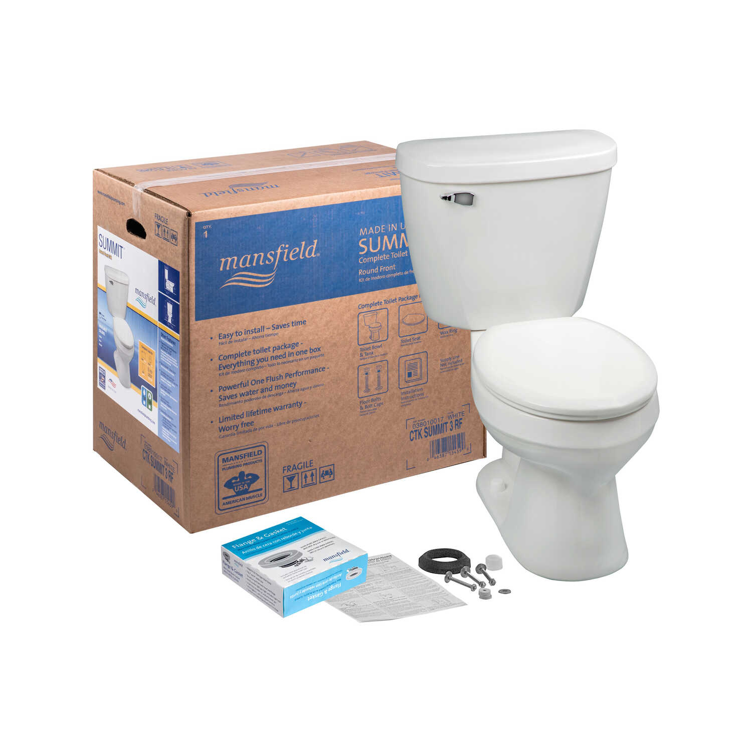 Mansfield Summit 1 28 Gal Complete Toilet Ace Hardware