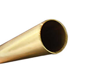 K&S  1/4 in. Dia. x 12 in. L Round  Brass Tube  1 pk