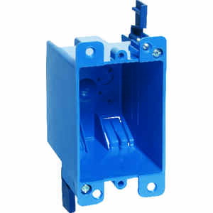 Carlon  Rectangle  1 Gang  Outlet Box  Blue  4-1/8 in. PVC