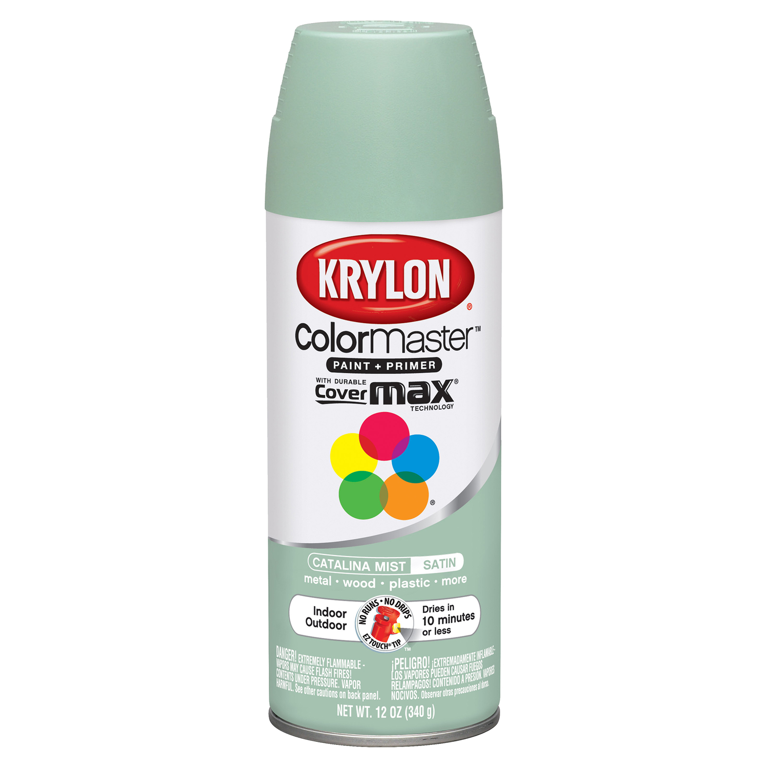 Krylon  ColorMaster  Satin  Catalina Mist  Spray Paint  12 oz.
