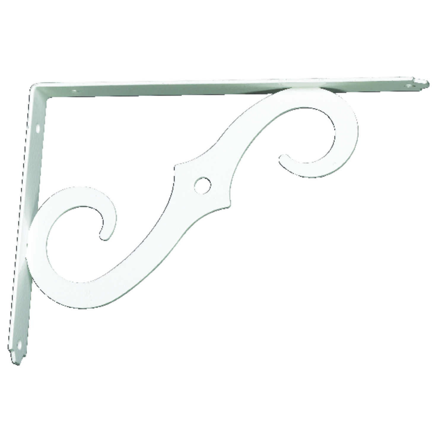 Ace  White  White  Steel  12 Ga. 7 in. H x 1/2 in. W x 10 in. L Shelf Support