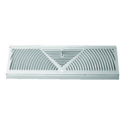 Tru Aire 4-1/2 in. H x 18 in. W 3-Way Powder Coat White Steel Baseboard Diffuser