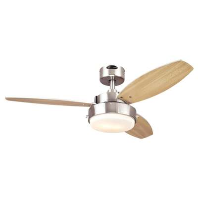 Westinghouse  Alloy  42 in. Brushed Nickel  Brown  Indoor  Ceiling Fan