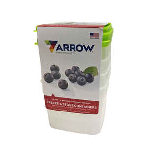 Arrow Home Products  Stor Keeper  1.5 pt. Food Container and Lid  4 pk White