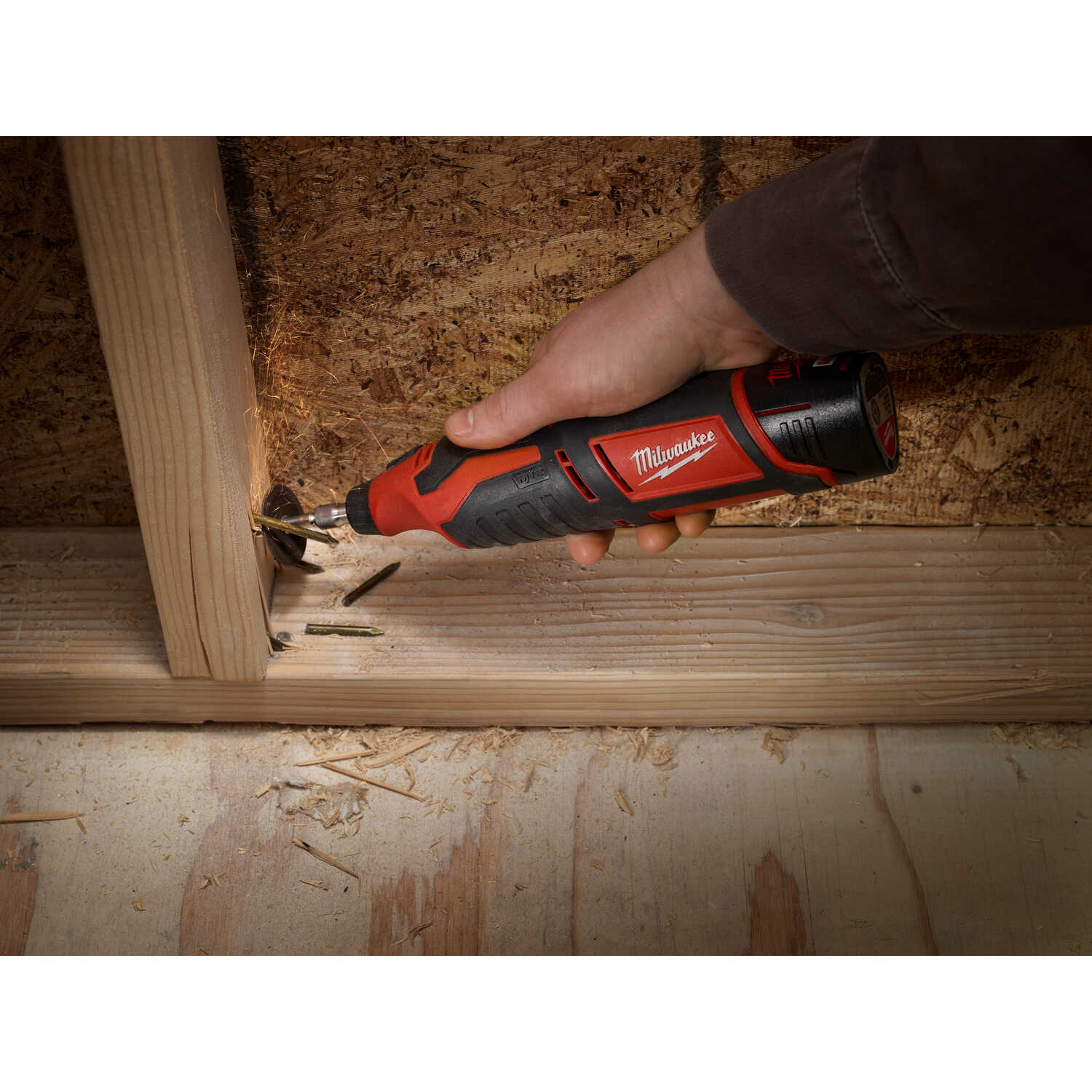 Milwaukee  M12  1/4 and 1/8 in. Cordless  Rotary Tool  Kit 32000 rpm 1 pc.