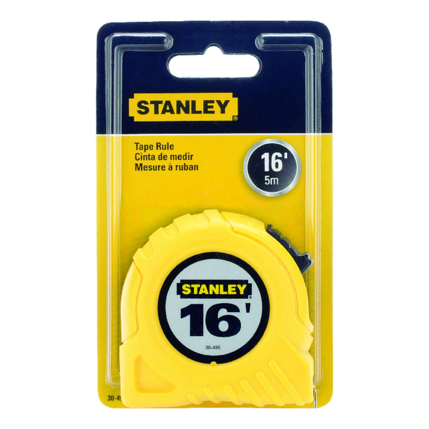 Stanley  0.75 in. W x 16 ft. L Tape Measure  1 pk Yellow