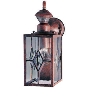 Heath Zenith  Metal  Hardwired  Bronze  Motion-Sensing  Wall Lantern