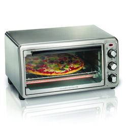 Hamilton Beach Stainless Steel Silver Convection Toaster Oven 9 in. H x 17 in. W x 15 in. D