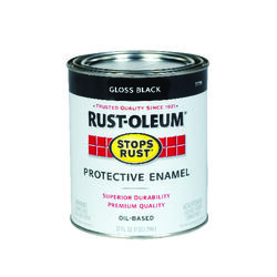 Rust-Oleum Stops Rust Indoor and Outdoor Gloss Black Oil-Based Protective Paint 1 qt.