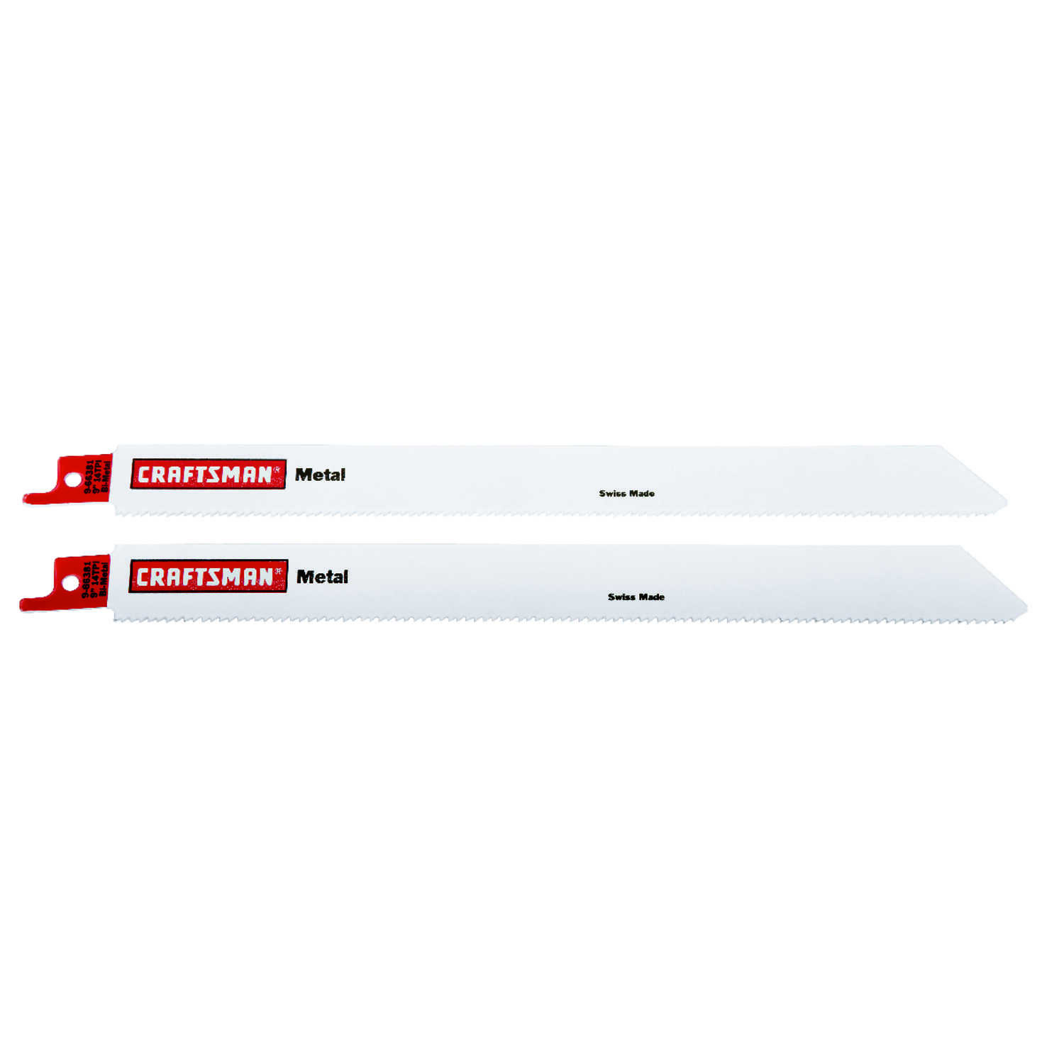 Craftsman  9 in. L x .5 in. W Bi-Metal  Reciprocating Saw Blade  14 TPI 2 pk
