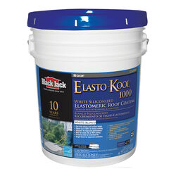 Black Jack  Elasto-Kool 1000  Gloss  White  Acrylic  Roof Coating  5 gal.