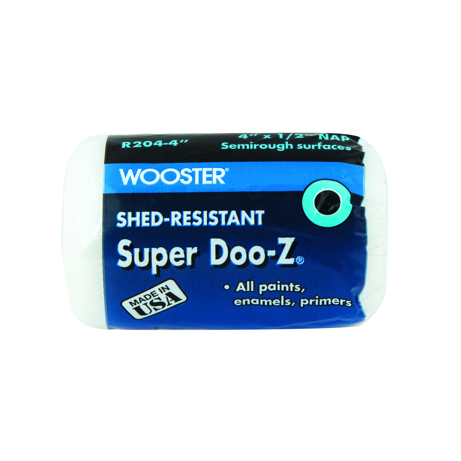 Wooster  Super Doo-Z  Fabric  1/2 in.  x 4 in. W For Semi-Rough Surfaces Paint Roller Cover  1 pk