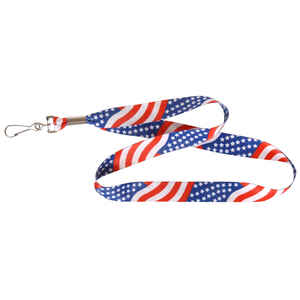 Hillman  American Flag  Polyester  Multicolored  Decorative Key Chain  Lanyard