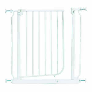 North States  White  29 in. H x 28-38.5 in. W Metal  Child Safety Gate