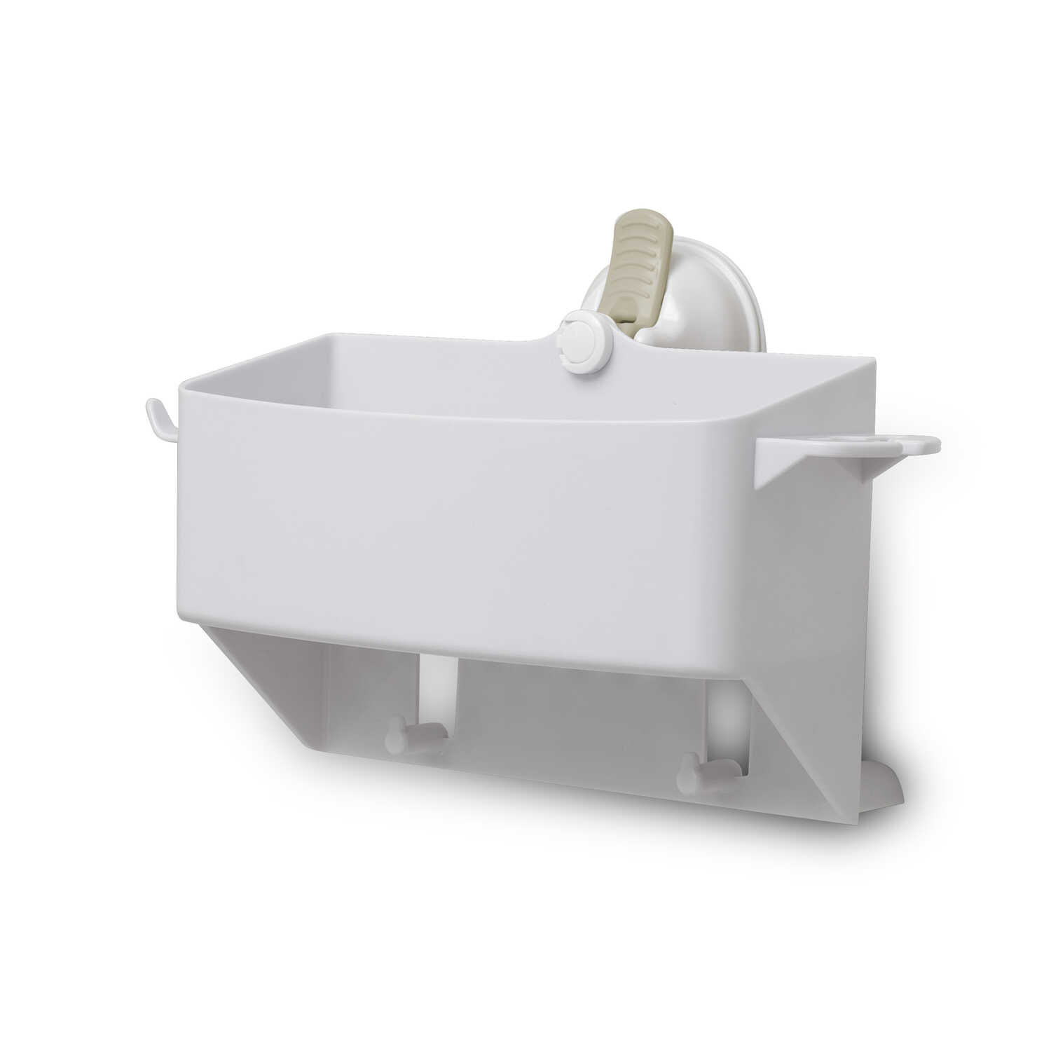 Safe-Er-Grip  Caddy/Razor/Toothbrush Holder  5 in. W x 10 in. L x 5.5 in. H Bright  White  Plastic