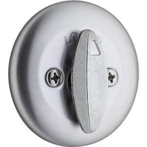 Kwikset  Satin Chrome  Metal  Deadbolt