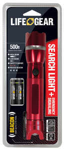 Life Gear  250 lumens Red  LED  Search Light  AAA