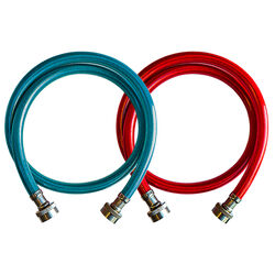 Ultra Dynamic Products 3/8 in. Dia. x 6 ft. L Braided Stainless Steel Washer Machine Hose