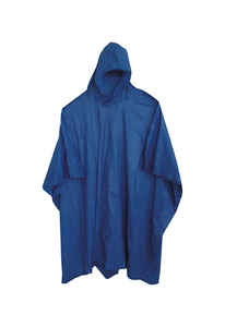 Boss  Blue  Vinyl  Rain Poncho  One Size Fits All