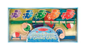 Melissa & Doug  Catch and Count  Toy  Wood
