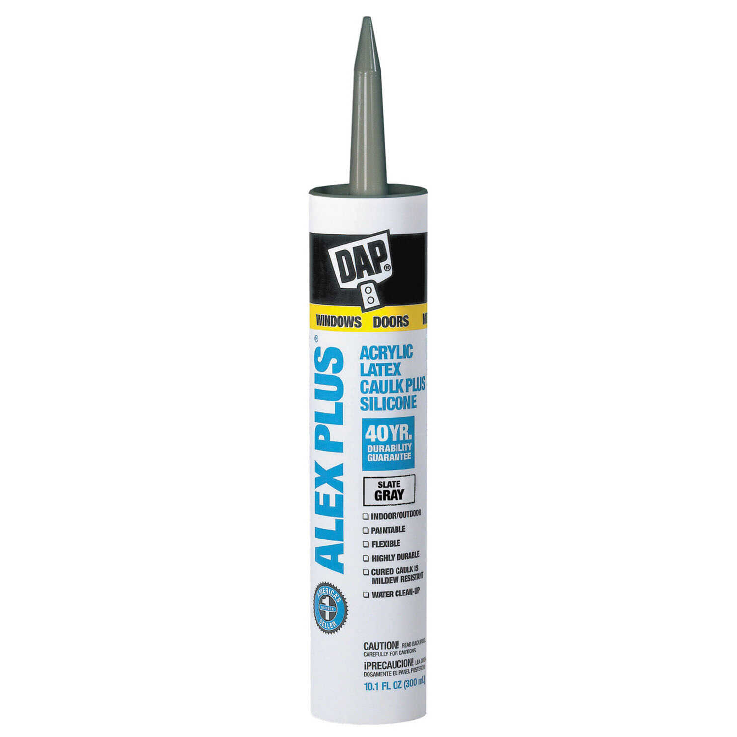 Dap  Alex Plus  Slate Gray  Acrylic Latex  All Purpose  Caulk  10.1 oz.
