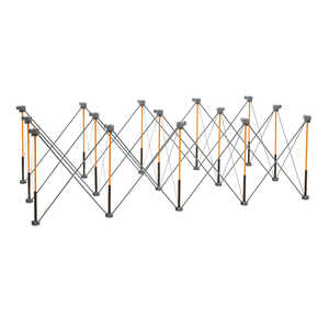 Centipede  30-1/2 in. H x 96 in. D x 48 in. W Adjustable Expandable Sawhorse  3000 lb. capacity Blac