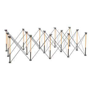 Centipede  30-1/2 in. H x 48 in. W x 96 in. D Adjustable Expandable Sawhorse  3000 lb. Black  1 EA