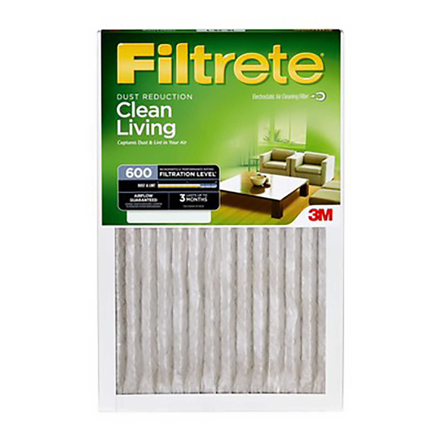 3M  Filtrete  12 in. H x 20 in. W x 1 in. D 6 MERV Air Filter