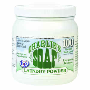 Charlie's Soap  Unscented Scent Laundry Detergent  Powder  2.64 lb.