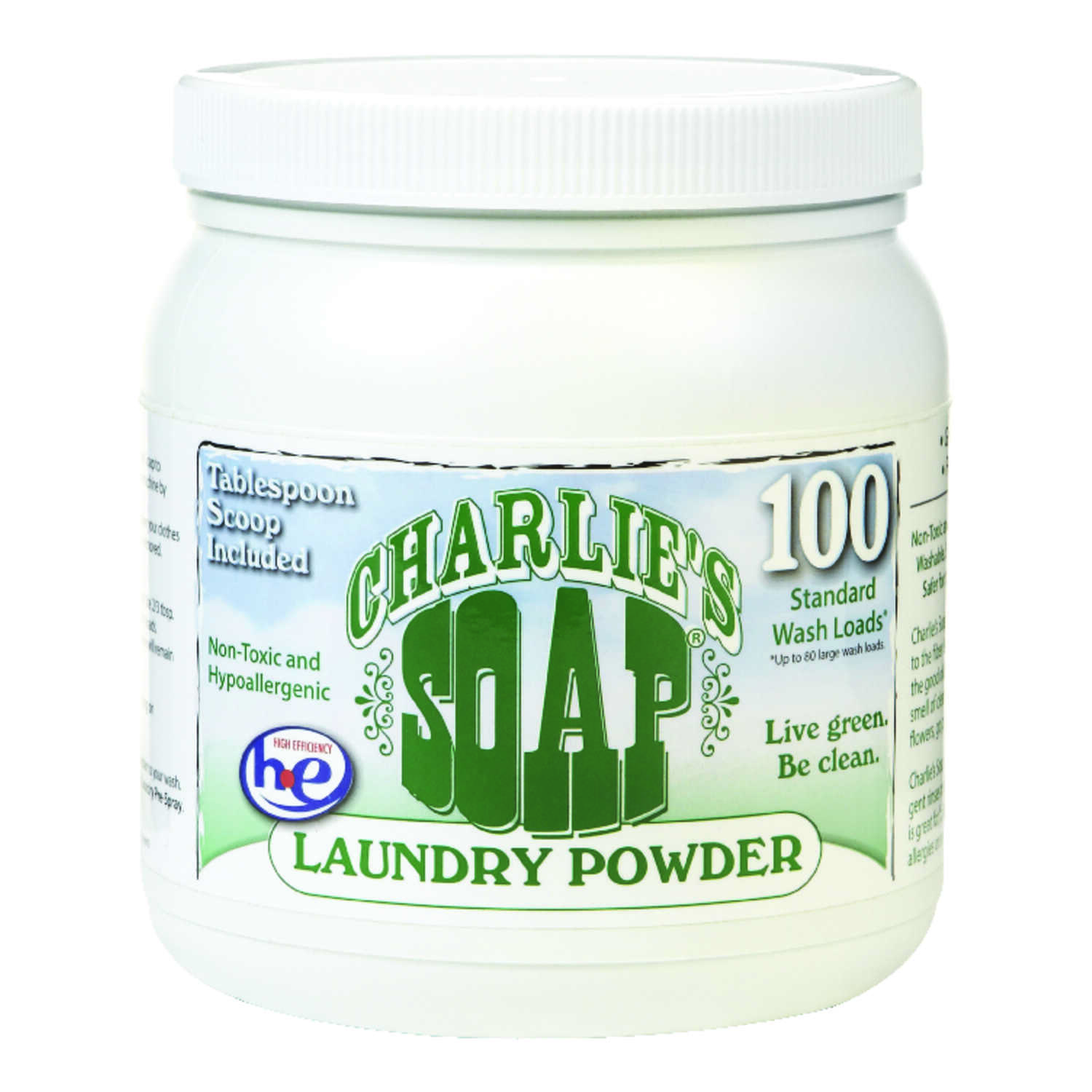 Charlie's Soap  No Scent Laundry Detergent  Powder  2.64 lb.