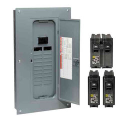 Square D  HomeLine  100 amps 120/240 volt 20 space 40 circuits Combination Mount  Load Center Main B