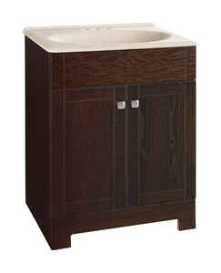 Continental Cabinets  Single  Dark  Java  Vanity Combo  24 in. W x 18 in. D x 32 in. H