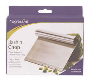 Progressive  Prepworks  Metallic  Stainless Steel  Bash and Chop Scooper/Cutter