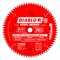 Diablo  Steel Demon  7-1/4 in. Dia. x 5/8 in.  Carbide Tip Steel  Circular Saw Blade  70 teeth 1 pc.