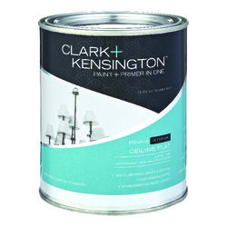 Clark+Kensington  Ace  Flat  White  Acrylic Latex  Ceiling Paint and Primer in One  Indoor  1 qt.