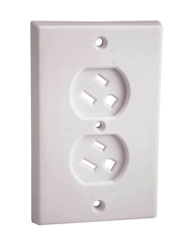 ChildSafe  White  Plastic  Swivel Outlet Cover  6