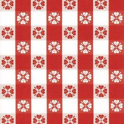 Magic Cover  Yard Goods  .01 in. H x 54 in. W x 540 in. L Red/White Checkered  Vinyl  Flannel Back C