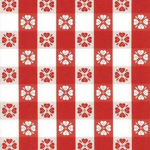 Magic Cover  Yard Goods  54 in. W x 540 in. L Red/White Checkered  Plastic  Flannel Back Covering